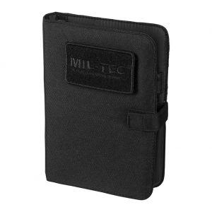 Cuaderno táctico con funda Mil-Tec de tamaño pequeño en negro