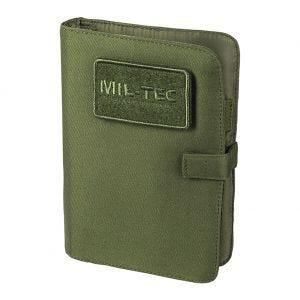 Cuaderno táctico con funda Mil-Tec de tamaño pequeño en verde oliva