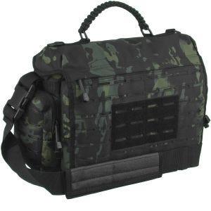 Bolsa táctica Mil-Tec con paracord de tamaño grande en Multitarn Black