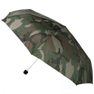 Paraguas plegable Mil-Tec de tamaño mini en Woodland