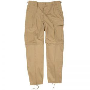 Pantalones de combate Mil-Tec con perneras de quita y pon en caqui