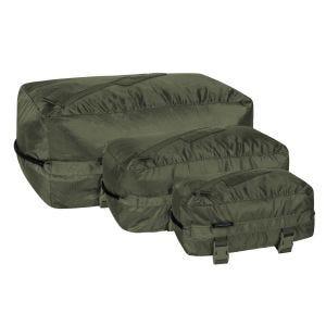 Set de bolsas Helikon Pakcell de Ripstop en verde oliva