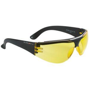 Gafas Swiss Eye Outbreak Protector con montura negra y lentes amarillas