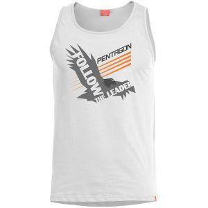 Camiseta sin mangas Pentagon Astir Follow the leader en blanco