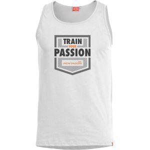 Camiseta sin mangas Pentagon Astir Train your passion en blanco