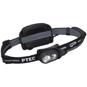 Linterna frontal Princeton Tec Remix recargable con luz LED blanca con carcasa en negro