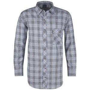 Camisa abotonada de manga larga Propper Covert en Ocean Blue Plaid