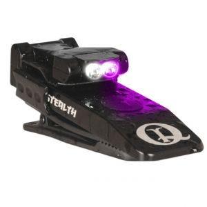 Linterna LED QuiqLite Stealth en UV / blanco