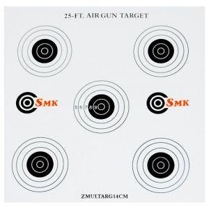 Pack de 100 dianas de tiro SMK 25ft de cartón de 14 cm