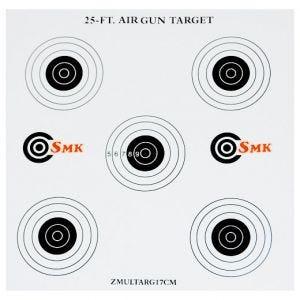 Pack de 100 dianas de tiro SMK 25ft de cartón de 17 cm