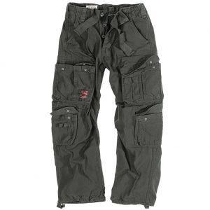 Pantalones Surplus Airborne Vintage lavados a la piedra en negro