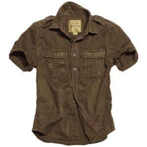 Camisa de manga corta Surplus Raw Vintage en marrón
