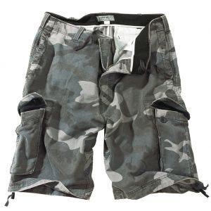 Pantalones cortos Surplus Vintage lavados a la piedra en Night Camo