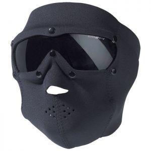 Mascara de neopreno con gafas protectoras Swiss Eye con lentes ahumadas en negro