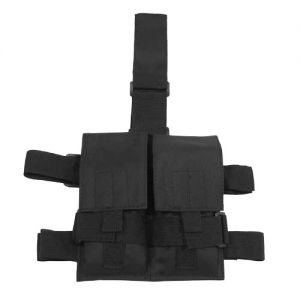 Portacargador doble MFH Tactical para la pierna en negro