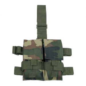 Portacargador doble MFH Tactical para la pierna en Woodland