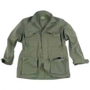Camisa Teesar BDU de Ripstop prelavado en verde oliva