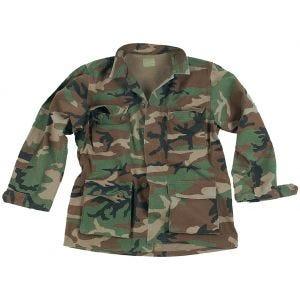 Camisa Teesar BDU de Ripstop prelavado en Woodland