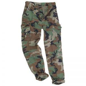 Pantalones Teesar BDU de Ripstop prelavado en Woodland
