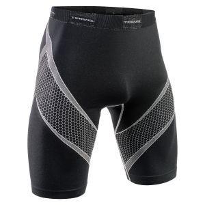 Mallas deportivas cortas Tervel Optiline en negro / gris claro