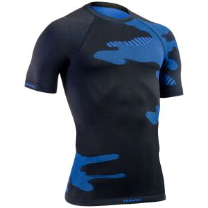 Camiseta ligera de manga corta Tervel Optiline en negro / azul