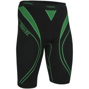 Pantalones Deportivas Tervel Optiline en negro / verde
