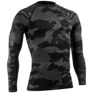Camiseta táctica y ligera de manga larga Tervel Optiline en negro / gris