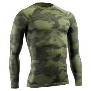 Camiseta táctica y ligera de manga larga Tervel Optiline en Military / gris