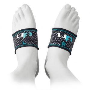 Bandas elásticas para el arco del pie Ultimate Performance en negro