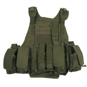 Chaleco MFH Tactical con sistema MOLLE en Ranger Olive