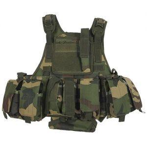 Chaleco MFH Tactical con sistema MOLLE en Ranger Woodland