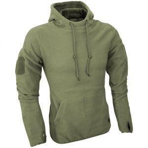 Sudadera con capucha Viper Tactical de forro polar en verde