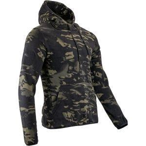 Sudadera con capucha Viper Tactical de forro polar en V-Cam Black