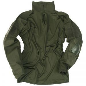 Camisa con coderas Mil-Tec Warrior en verde oliva