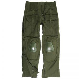 Pantalones con rodilleras Mil-Tec Warrior en verde oliva