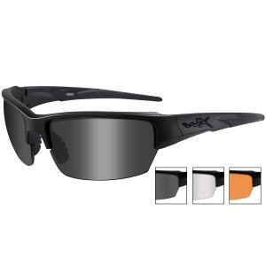 Gafas Wiley X WX Saint con lentes ahumadas + transparentes + naranja claro y montura en negro mate