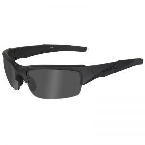 Gafas Wiley X WX Valor con lentes ahumadas Black Ops en gris y montura en negro mate