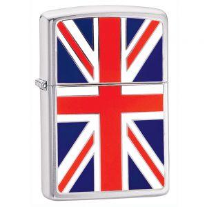 Mechero con la bandera del Reino Unido Zippo
